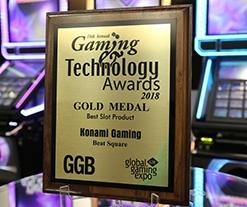 Beat Square de Konami gana el premio al mejor producto de tragamonedas en la 17ª edición de los Gaming & Technology Awards